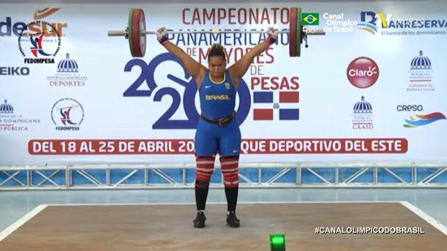 Jaqueline Ferreira em prova da 78kg no Pan-Americano