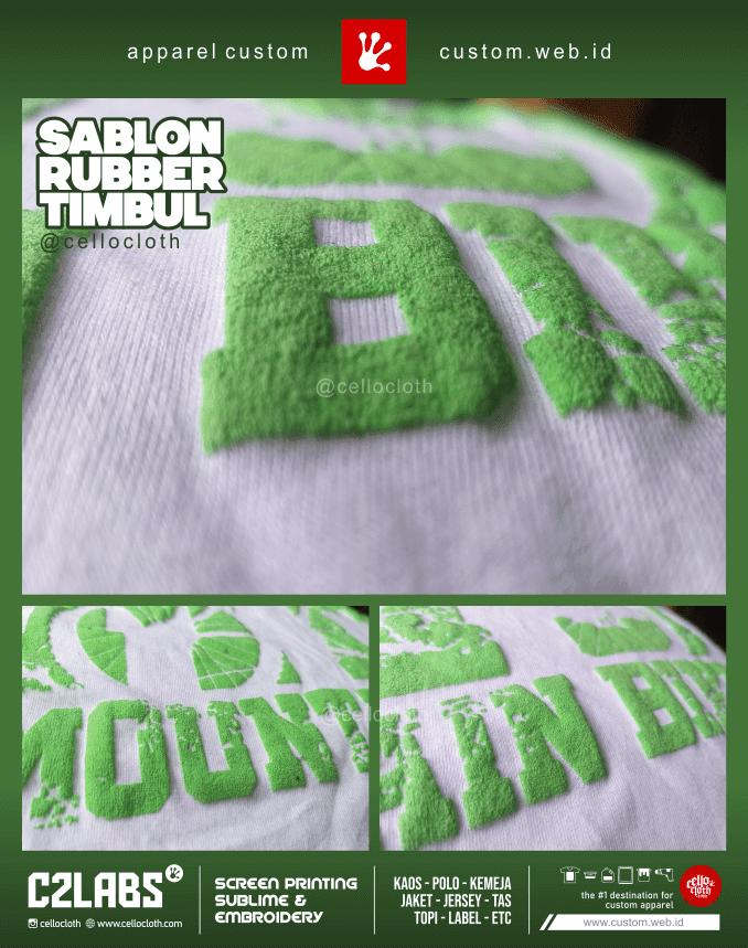 Sablon Timbul Sablon Foam sablon Foaming - C2 Labs