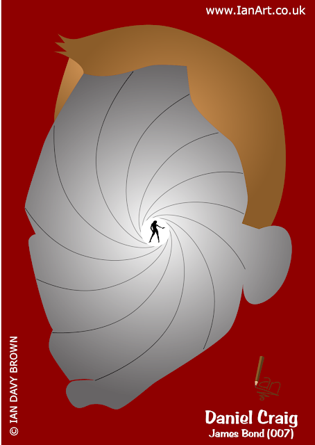 Daniel Craig, James Bond, 007, Caricature, Symbolic,cartoon