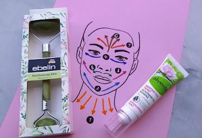 Ebelin: masážny valček na tvár z kameňa