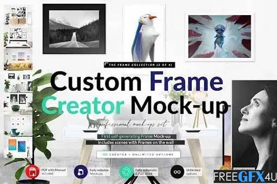Automatic Frame Creator Scenes Mockup