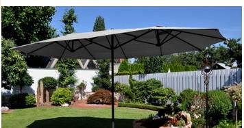 prix parasol jardin inclinables rectangulaires d port s. Black Bedroom Furniture Sets. Home Design Ideas