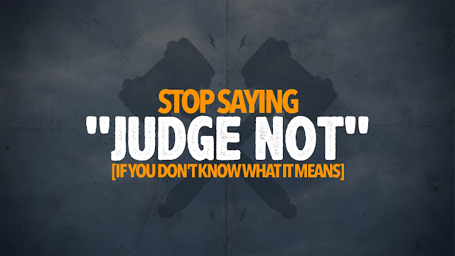 Image result for Judge Not