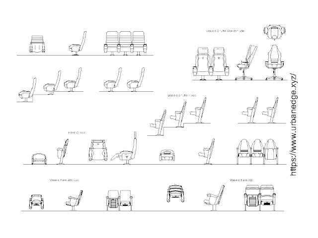 Auditorium Armchairs cad blocks free download, 20+ Armchairs cad blocks