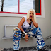 See Toyin Aimakhu New stunning blonde look as she goes gangster