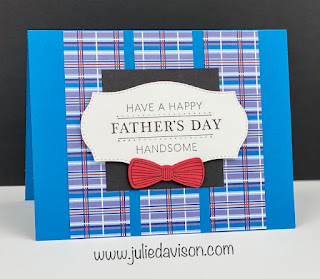 Stampin' Up! Well Suited Suite ~ Handsomely Suited Father's Day Card ~ January-June 2021 Mini Catalog ~ www.juliedavison.com