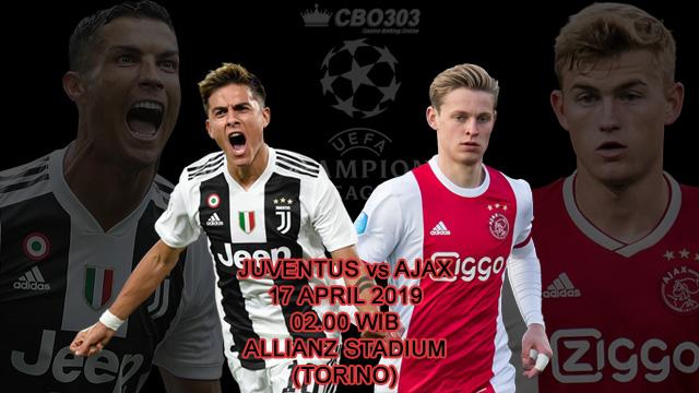 Prediksi Tepat Liga Champions Juventus vs Ajax (17 April 2019)
