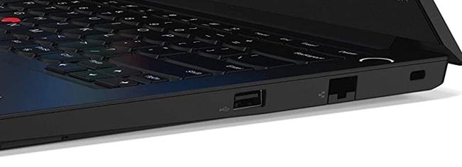 Ports on the right side of Lenovo ThinkPad E14 laptop.