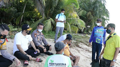 Walikota Genius Umar Tinjau Penerapan Protokol Kesehatan Di Pulau Angso Duo