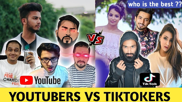 Tiktokers vs Youtuber Amir Siddiqui vs Elvish Yadav,tiktoker,youtuber
