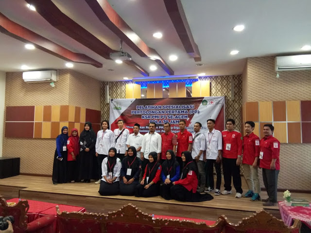 KSR PMI UIN Ar-Raniry Gelar Pelatihan Spesialisasi PP Se Aceh
