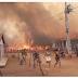 Moradores são retirados de residências após incêndio de grandes proporções na zona rural de Sousa