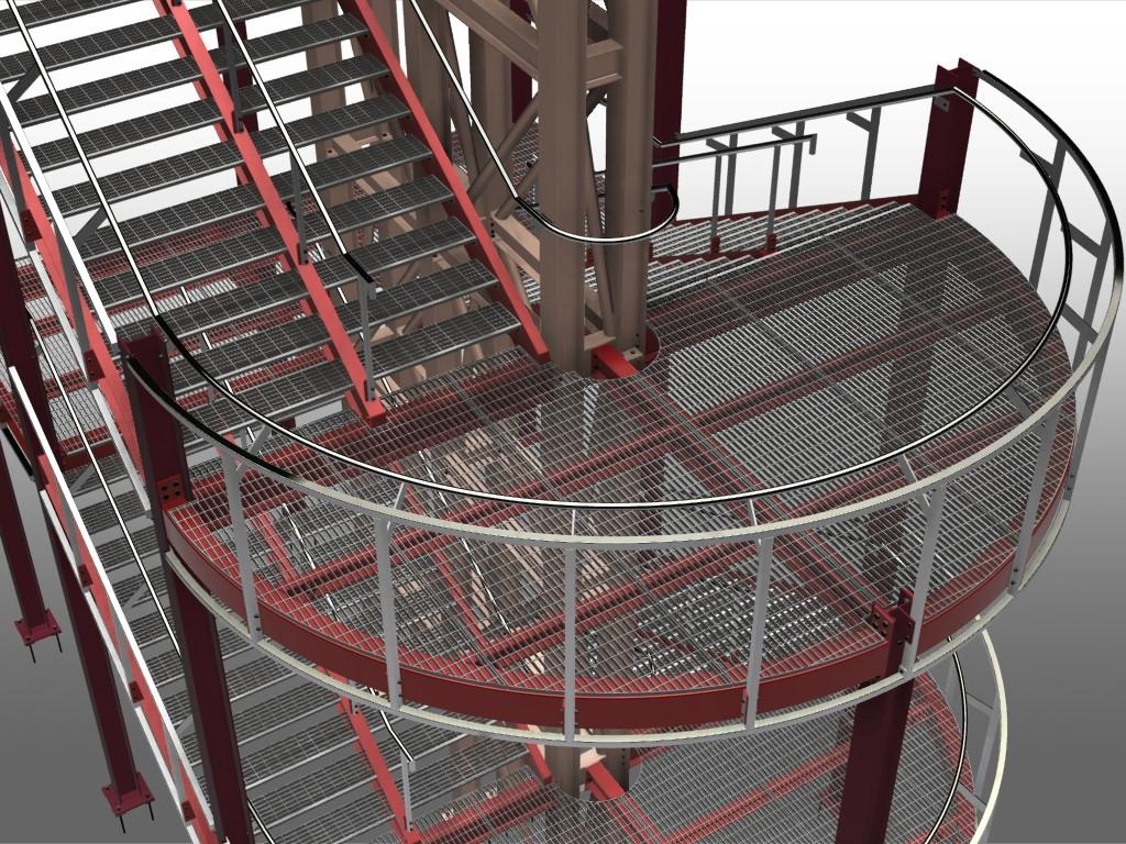 El dise o de escaleras met licas es una tarea compleja que for Soluciones para escaleras