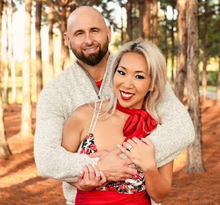 Christine Bui Allegra with her celebrity husband Karl Anderson