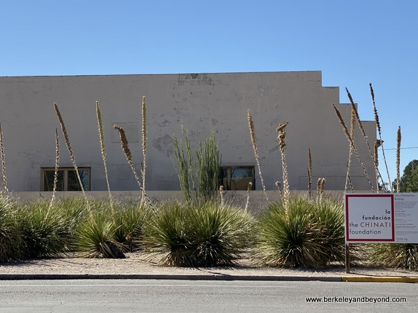 exterior of downtown Chinati Foundation center in Marfa, Texas