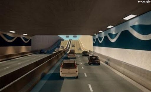 Túnel submerso é infraestrutura do Porto de Santos