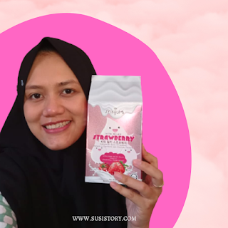 review shinjumi vita milky strawberry