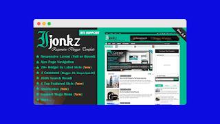 ijonkz blogger template free download |