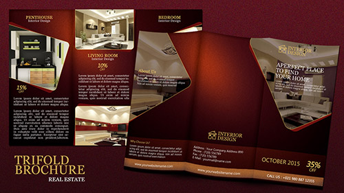 Create a Tri fold Real Estate Brochure Photoshop Tutorial
