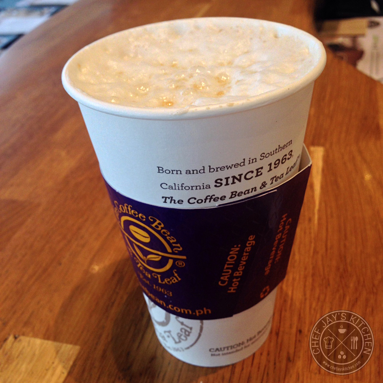 The Coffee Bean and Tea Leaf's Toffee Nut Latte and Iced ...