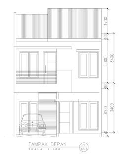 denah rumah 2 lantai minimalis | desain rumah minimalis