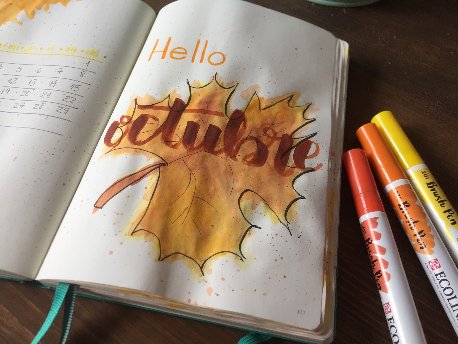 BULLET JOURNAL PLANIFICO OCTUBRE