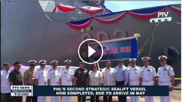 BAGONG STRATEGIC SEALIFT VESSEL, KOMPLETO NA AT DARATING NA SA MAYO