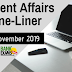 Current Affairs One-Liner: 11th November 2019