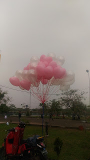 balon gas wedding