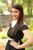Mannara Chopra in Short Off Shoulder Black Dress ~  Exclusive 022.JPG
