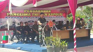 Panglima TNI : Tugas TNI dan Polri Menjaga Perbatasan Sangat Penting