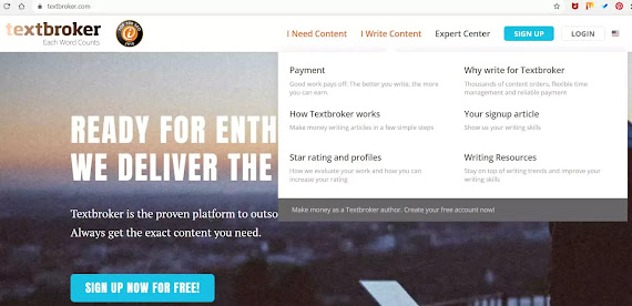Submit your content on textbroker and get paid , copy-paste job