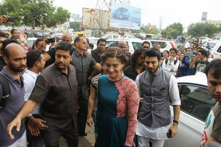 Sonam Kapoor and Fawad's 'Khoobsurat' promotion at Ahmedabad