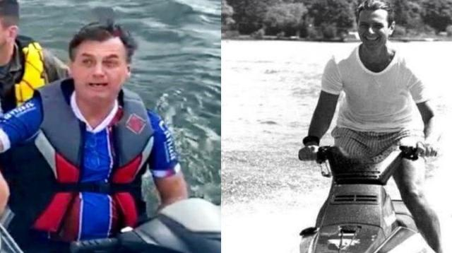 Coincidência? Cenas de Collor e Bolsonaro de Jet Ski ameaçados de impeachment