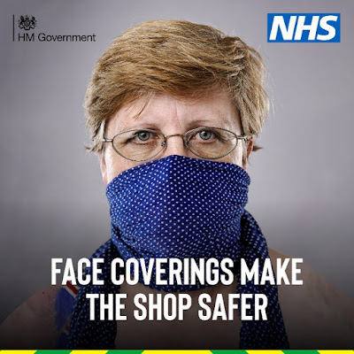Shopping face coverings UK Government say it makes it safer