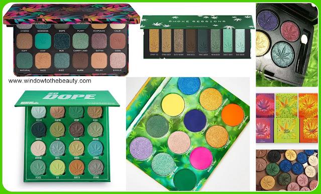 cannabis eyeshadow palettes