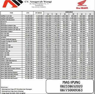 Brosur Kredit Motor Honda Madura 2021