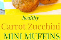 Healthy Carrot Zucchini Mini Muffins Recipe