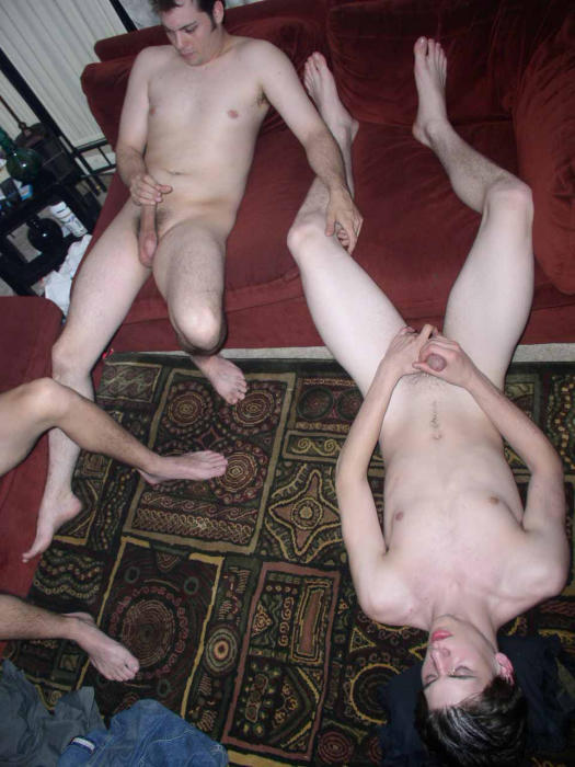 Gay Group Jerk Off