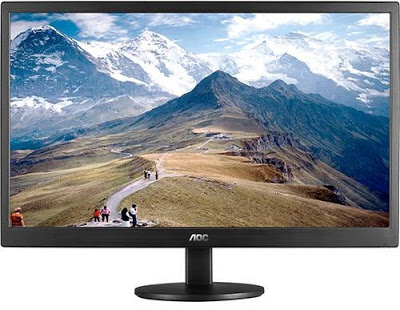 Foto do Monitor LED 21,5 AOC Full HD E2270SWN