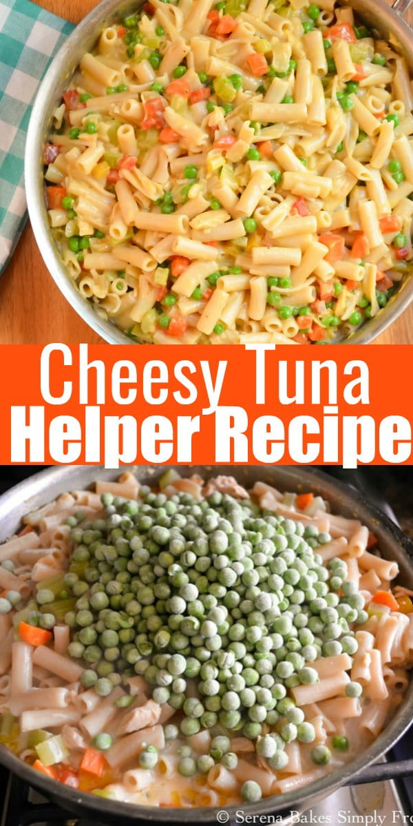 Easy to make Homemade Cheesy Tuna Helper Recipe with a gluten free option from Serena Bakes Simply From Scratch is a family favorite budget dinner.