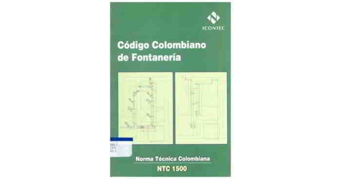 Descargar Código Colombiano de Fontanería