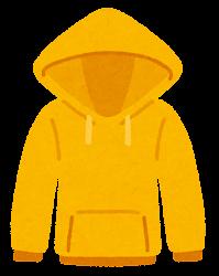 パーカーのイラスト(黄色)