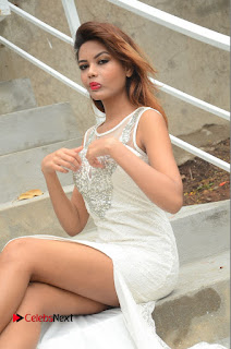 Actress Clara Farnandes Pictures in White Long Dress at Lovers Park Movie Opening 0044