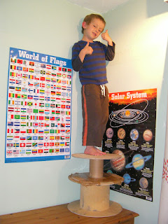 cable drums, flags of the world and planets