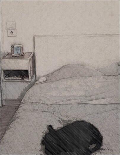 tête de lit et chevet en carton