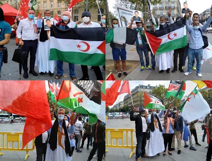 اليوم العالمي للسلام : الجالية الصحراوية وحركة التضامن بفرنسا تنددان بإستمرار إحتلال المغرب لأجزاء من الصحراء الغربية.