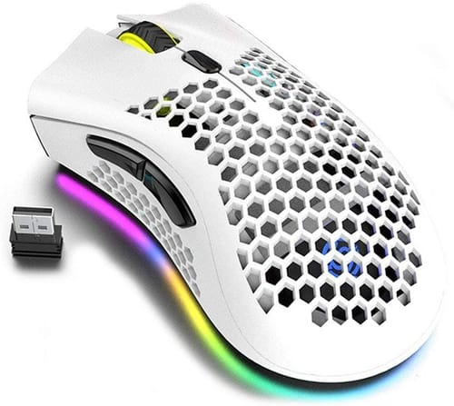 Review Attoe Honeycomb Design Wireless Gaming Mouse
