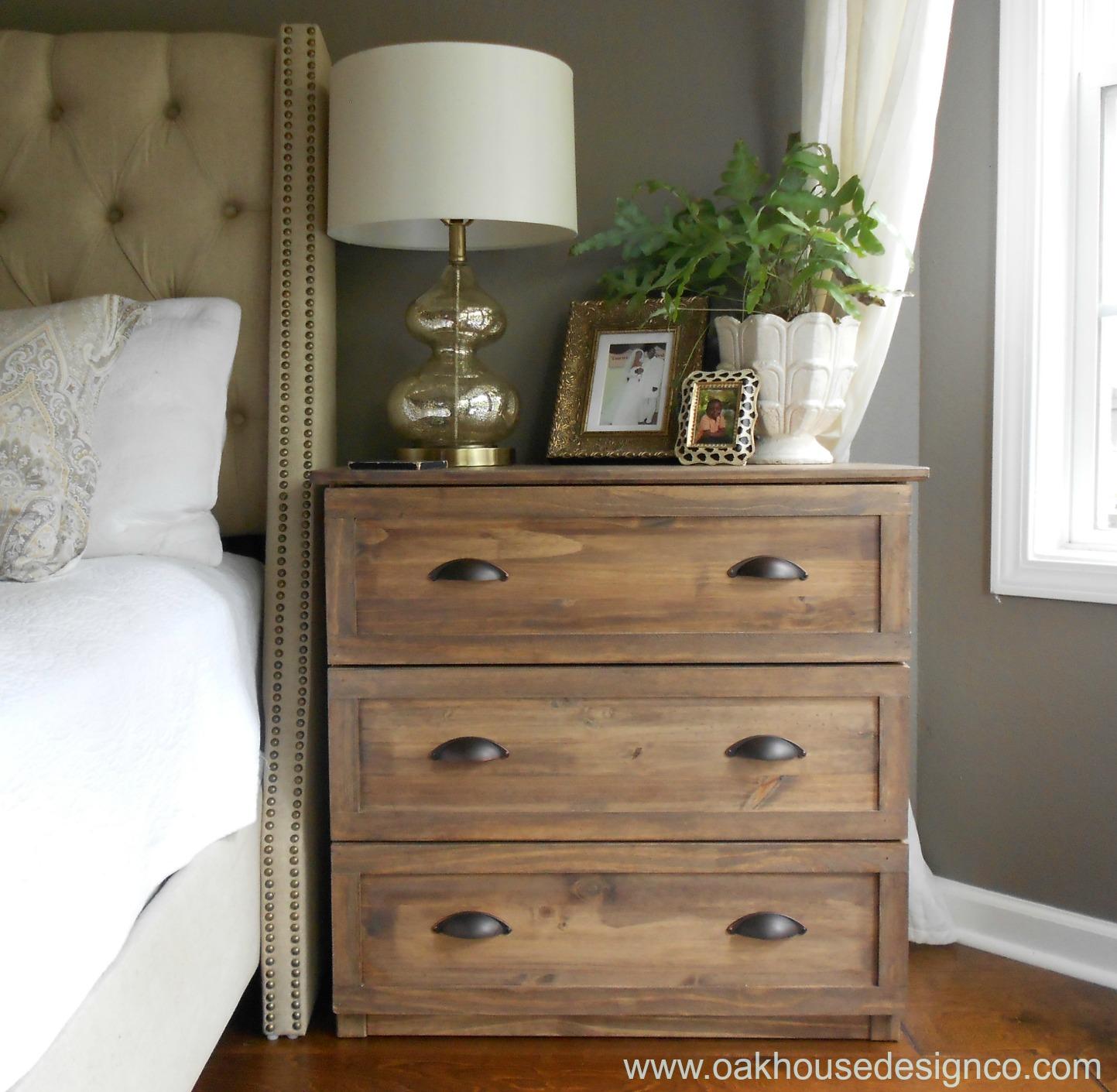the new nightstands an ikea tarva hack oak house design co. Black Bedroom Furniture Sets. Home Design Ideas