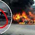 Seorang terkorban dan lima buah kenderaan hangus dijilat api